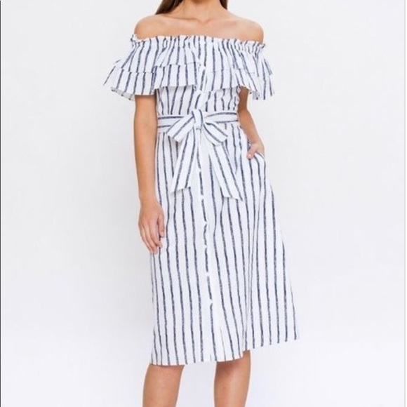 6be1726f2a5 Santorini Off the Shoulder Striped Dress